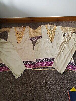 Asiatico Indain Pakistano Shalwar Salwar Kameez Vestito Lengha Taglia S-mostra Il Titolo Originale Durevole In Uso