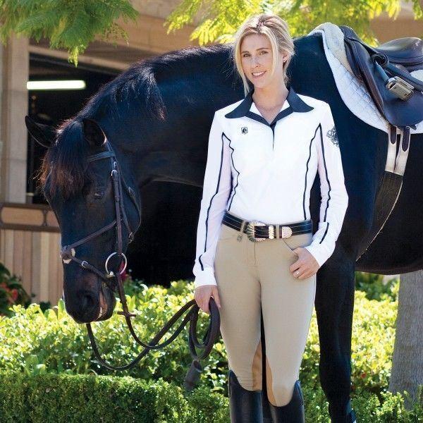 Romfh Wohombres International rodilla-Parche Equitación Pantalones de montar con cierto-ajuste de la cintura