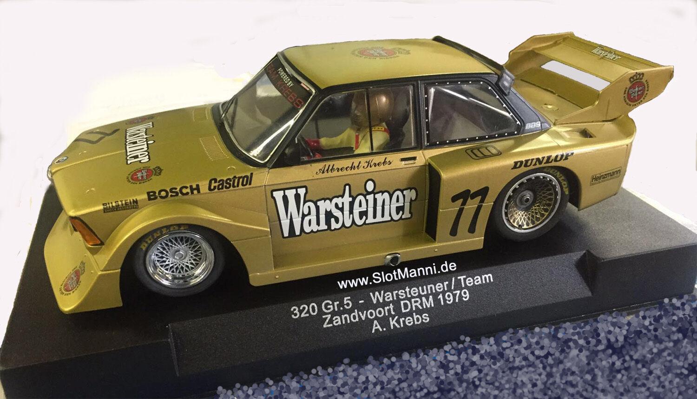Sideways BMW 320 TGL 5 Warsteiner DRM 1979 no. 77 M 1:3 2 NUOVO