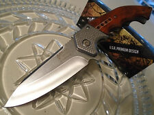 Mtech Xtreme Assisted Open Stone Wash Steampunk Hunter Pocket Knife A829SW 440C