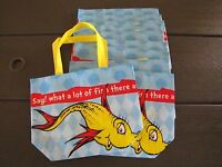 10 Dr Seuss Bags Party Supplies Tote Book one Fish Two Fish Red Fish Blue Fish