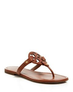 ba403846d NIB Tory Burch Miller Flat Thong Sandals size 5-11 Vintage Vachetta ...