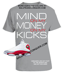 67a15441c8cd Jordan 13s GREY TOE MATCHING TSHIRTS Made by SALUTE AND CONQUER