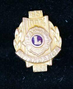 100/% attendance Lions pins