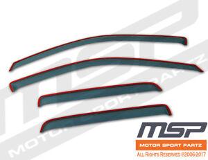 Dark Grey In Channel JDM Vent Visors Deflector 4pcs For Nissan Pathfinder 90-95