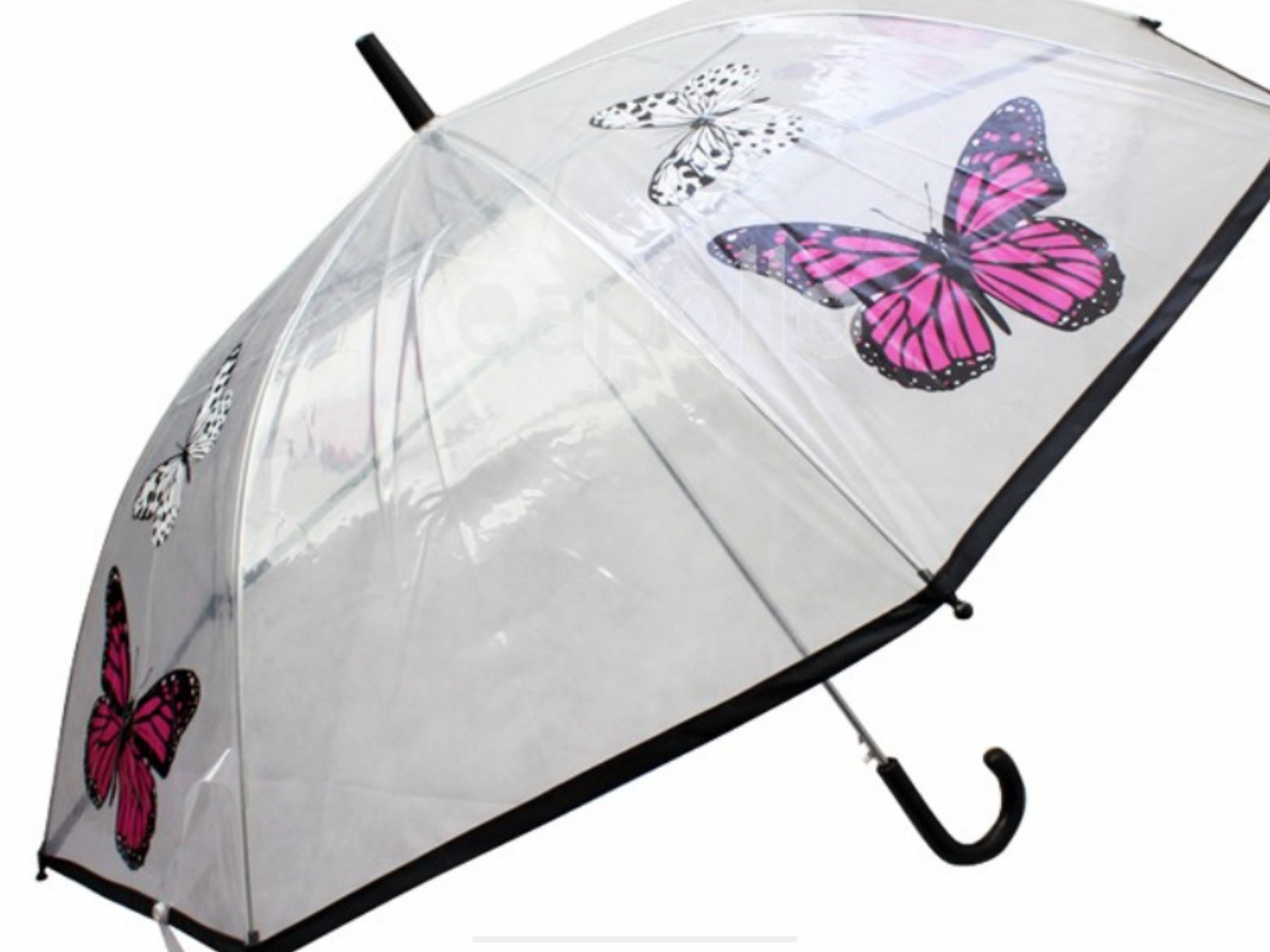 Butterfly large dome print umbrella brolly rainy day shopping car present gift
