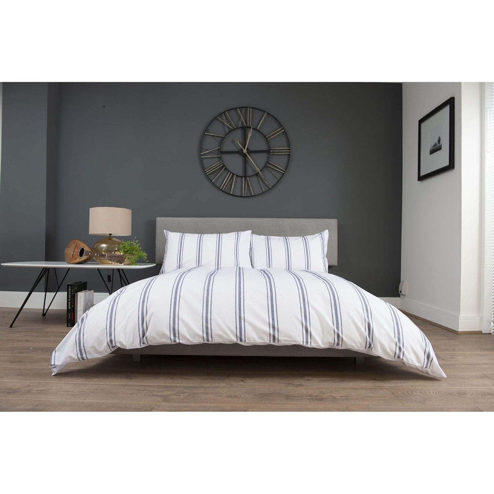 The Lyndon Company Toulouse 100% Cotton Yarn Dyed Duvet Set
