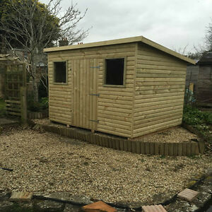 image is loading top quality fully tanalised pent garden sheds fully - Garden Sheds Yeovil