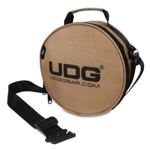 UDG-letzte-digi-headphone-bag-Gold-Tasche-fuer-Kopfhoerer-und-Zubehoer-neu