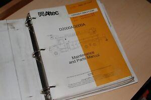 Details about ALTEC D2000A D3000A Digger Derrick Parts Repair Shop Service  Manual overhaul OEM