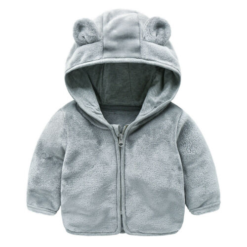 Baby Kinder Mädchen Jungen Ohren Kapuzenjacke Fleecejacke Mantel Winter Jacke