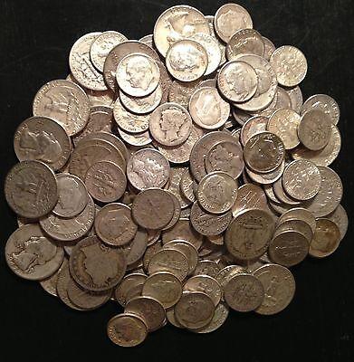 90/% US Mint Silver Coin 1 POUND WASHINGTON MERCURY Quarters Dime Oz.Pre 65 ONE 1