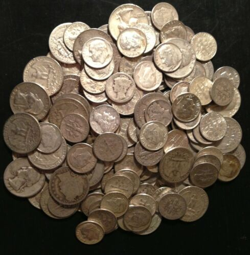 Mint Circulated Silver Varies Coin $4.10 Quarter Dime Oz.Pre 65 ONE 1 90/% U.S
