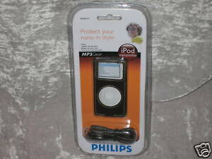 Philips-Leather-Case-iPod-Nano-Music-Travel-Protect-MP3-NEW