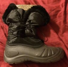 Kamik black winter boots size 10 Gold Liners Snow Ice Cold Warm