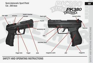 walther pk380 380 pistol owners instruction and maintenance manual rh ebay com Walther PPK 9Mm Walther PPK