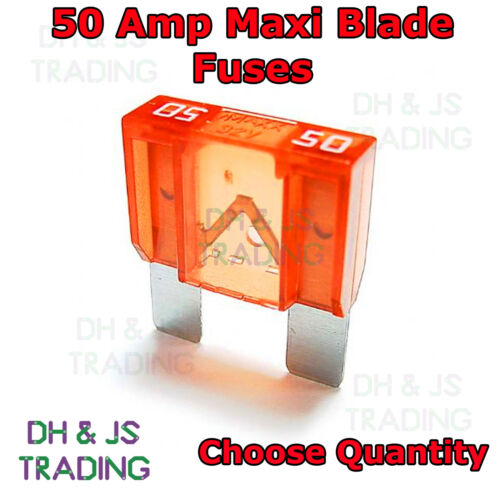 50 Amp Maxi Blade Fuses Lorry Car Van Truck Tractor Fuse Motorhome Large 50A