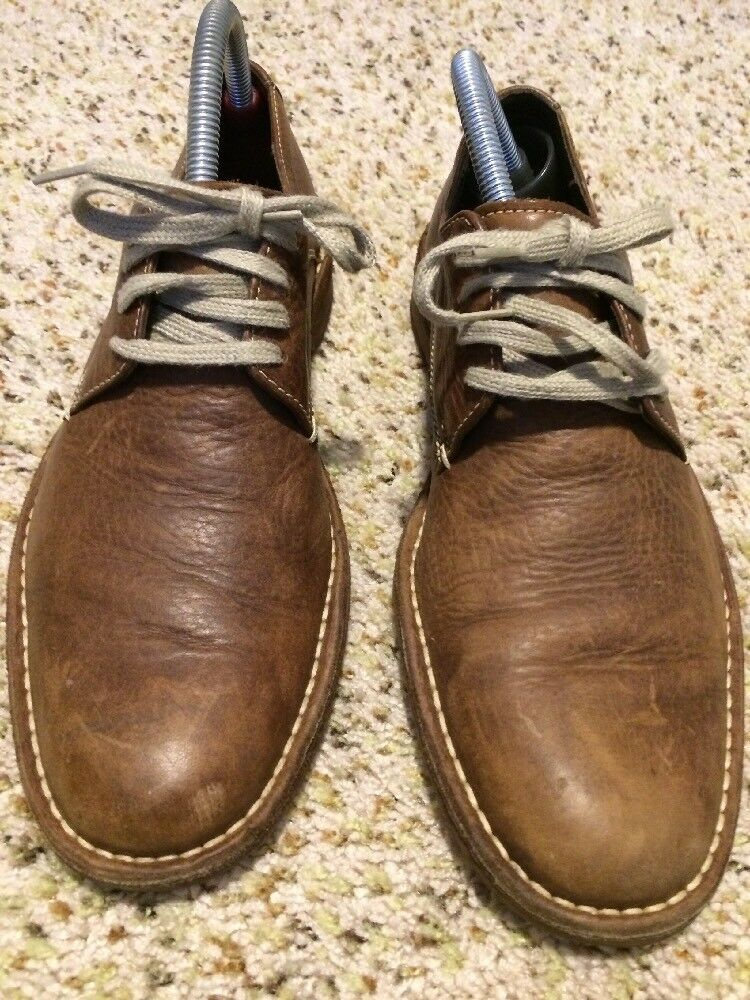 COLE HAAN Uomo BROWN LEATHER LACES OXFORD SHOE SIZE 8.5 Gh7