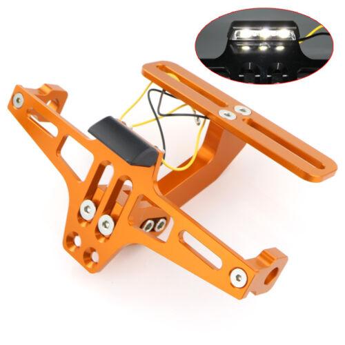 CNC Fender Eliminator Kit License Plate LED Light For Aprilia Tuono V4 1100 RSV4