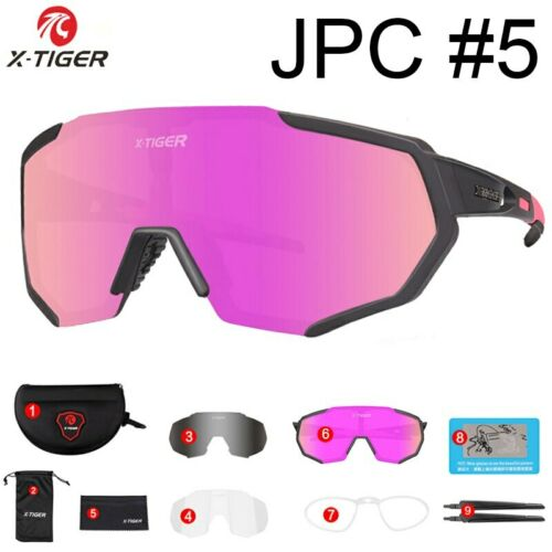 SPONSORED X-TIGER Polarized 3 Lens Cycling Glasses Road Bike Eyewear Sunglasses