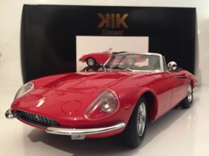Ferrari 365 California Spyder 1966 rosso 1 18 escala KK Scale Models
