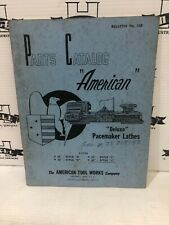 American Deluxe Pacemaker Lathes Parts Catalog Bulletin No 138