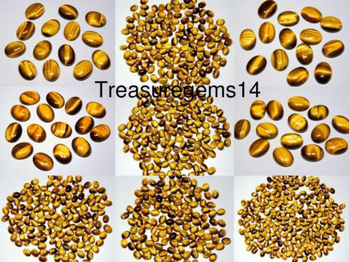 WHOLESALE LOT 100/% NATURAL GOLD TIGER EYE CALIBRATED OVAL CABOCHON GEMSTONE AAA+