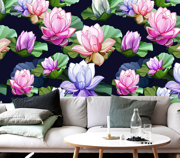3D flower Animation beautiful Wall Paper Print Decal Wall Deco Indoor wall Mural