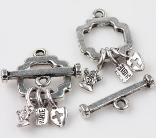 Lots 5//10 Set Tibetan Silver Toggle Clasp Connectors Jewelry Making Findings DIY