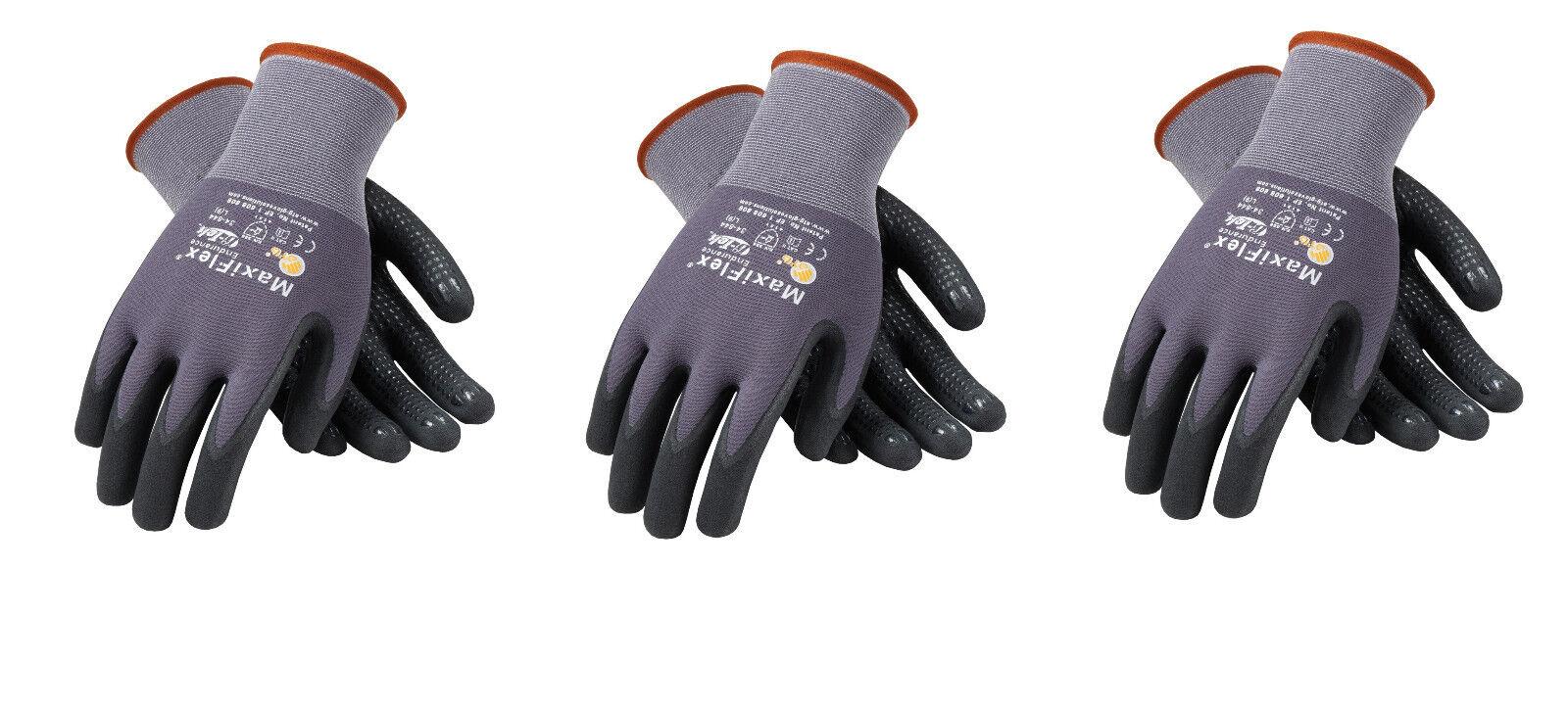 MaxiFlex® 34-844 Micro-Foam Nitrile Coated Gloves Large