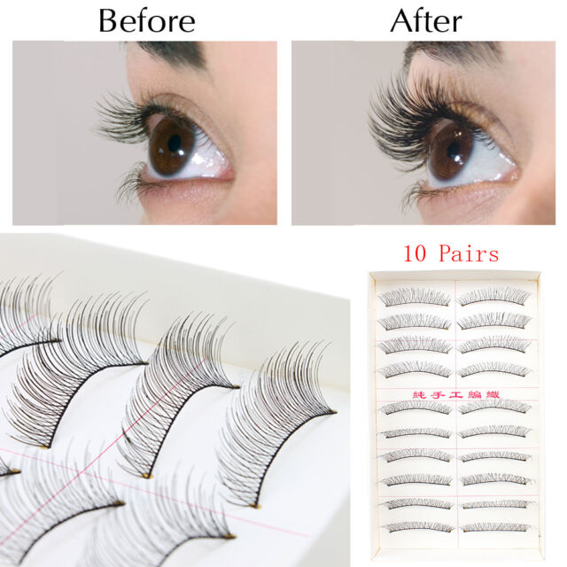 3fb8e1c3cda 10Pairs……Makeup Handmade Natural Fashion Long False Eyelashes Eye Lashes New
