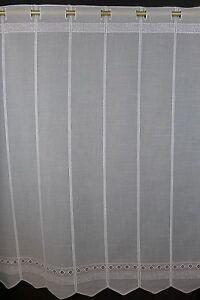 Scheibengardine Nach Mass Gardine Bistrogardine 013040 90 Cm Hoch Bestickt Ebay