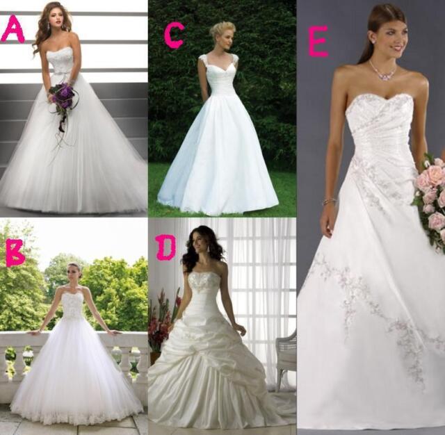 New Style blanc/ivoire robe de mariée de demoiselle d'honneur 34 36 38 40 42 44