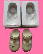 COPPIA di 3D Baby Girl FARFALLE Scarpe STAMPO IN SILICONE DECORAZIONI PER TORTA CIOCCOLATO ETC
