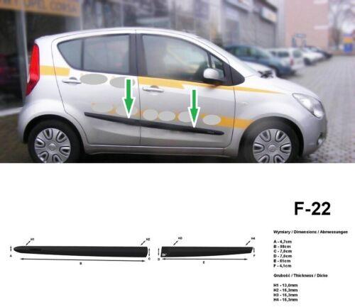 Türschutzleisten Rammschutz für Opel Agila B 2007-2014