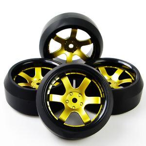 4PCS-1-10-RC-coche-de-carretera-3-Drift-Neumaticos-Llanta-Para-HPI-HSP-D6NKG-PP0367-hexagonal-de