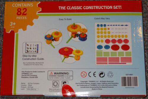 EZ-Toy Classic Construction Set Building Toy Creativity Gear Time
