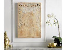 Teakholz Deko Bild Wandbild Slices 120x80 cm Teak Wohnraumdekoration Wanddeko