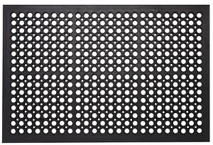 Durable Anti Fatigue Rubber Non Slip Drainage Floor Mat Restaurant