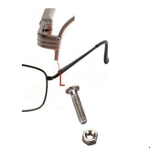 Brillenschrauben Ø1mm Brillen Schrauben Reparatur Gestell Muttern 24-Teile Set