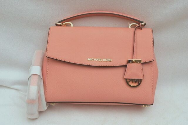 7cc78e837c85 NWT Michael Kors Ava Saffiano Leather Small Top Handle Satchel Bag Pale Pink