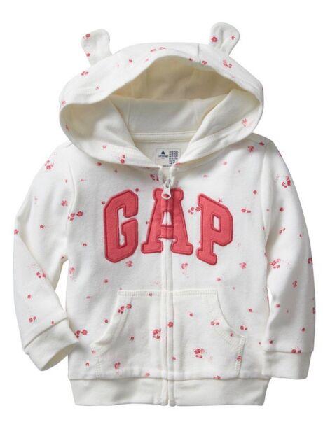 a97f684f9297f Baby Gap Hoodie Size 0-3 Months Logo Girls Bear Ear Hoodie Hooded ...