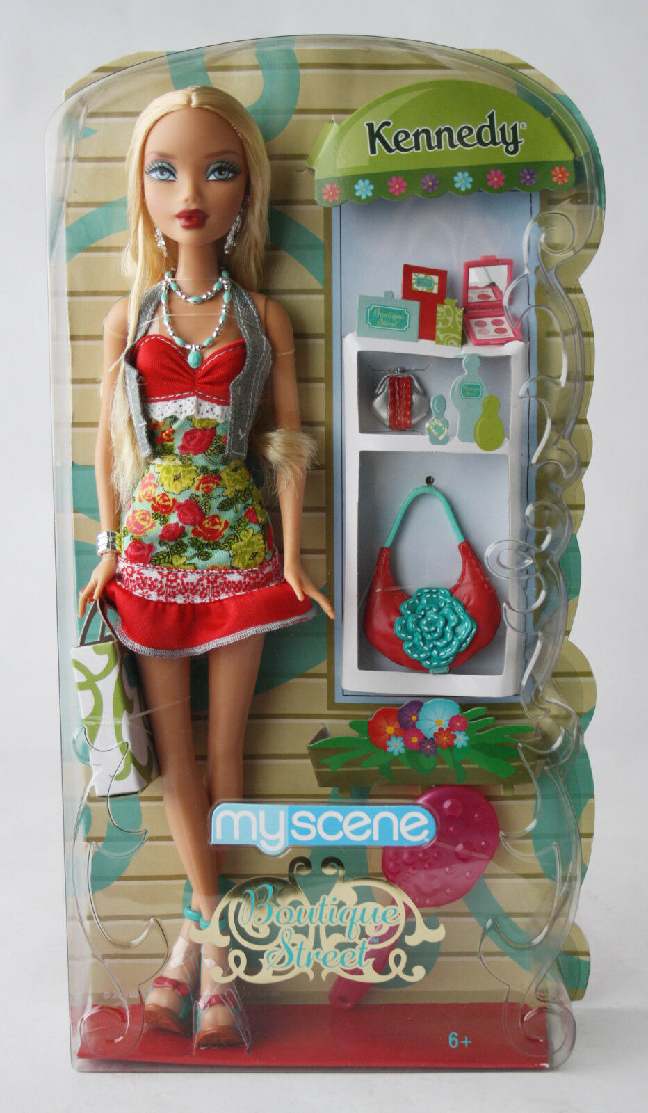 Raro 2008 My Scene Kennedy Boutique Street Muñeca Barbie Mattel Nuevo Sellado