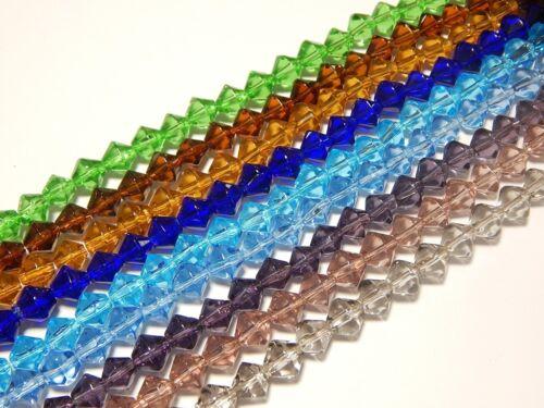 630 perles de verre Mixfarben Bijoux desing perlenset Best losanges 4 mm 9 Strang