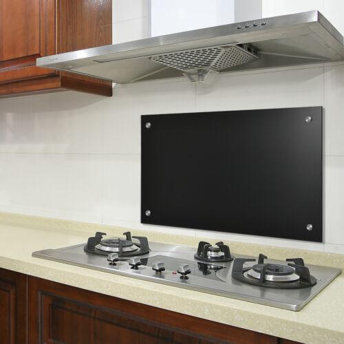 neu.haus ® Glas Küchenrückwand 70x40cm Schwarz Herdspritzschutz Herd Küche