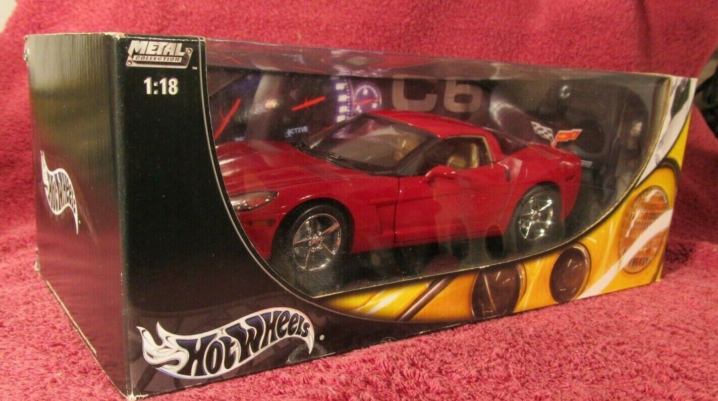 Colección de Metal 2003 Hotwheels rosso Corvette C6 Nuevo En Caja