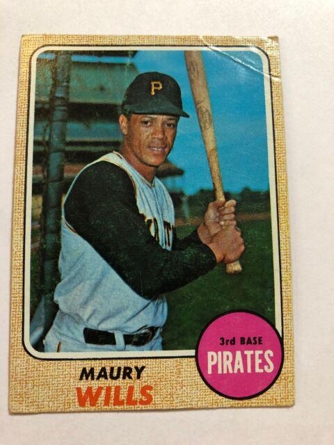 1968 Topps Maury Wills Pittsburgh Pirates 175 Baseball Card