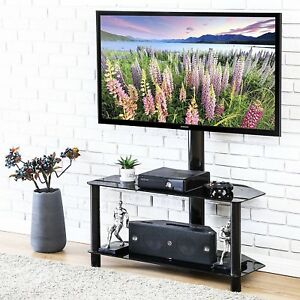 Tv Stand With Swivel Mount 2 Shelf For 50 Inch Flat Screen Tv Corner