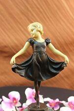 Bronze Statue Home Decor German Preiss Female Dancer Ballet Brown Ballerina Sale