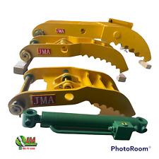 2 Teeth Hydraulic Excavator Thumb 40 Mm Master Pin On Fits Cat 3035 304 3045